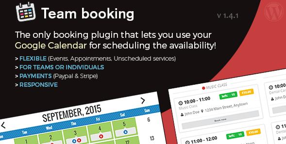 Wordpress Team Booking Plugin
