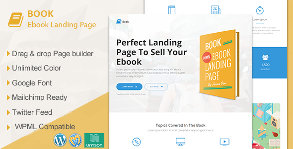 WordPress Bookstore Template