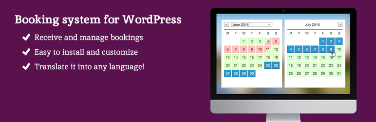 Wordpress Booking Calendar
