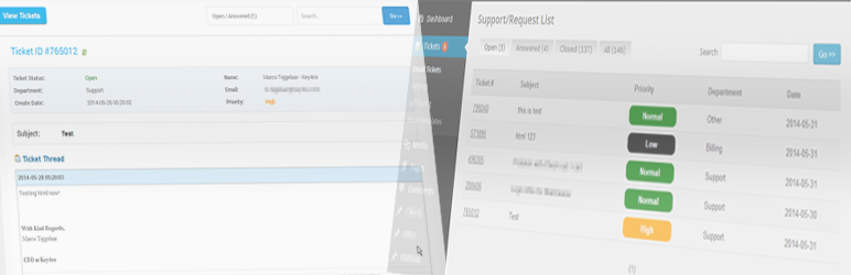 WordPress Support Ticket Plugin