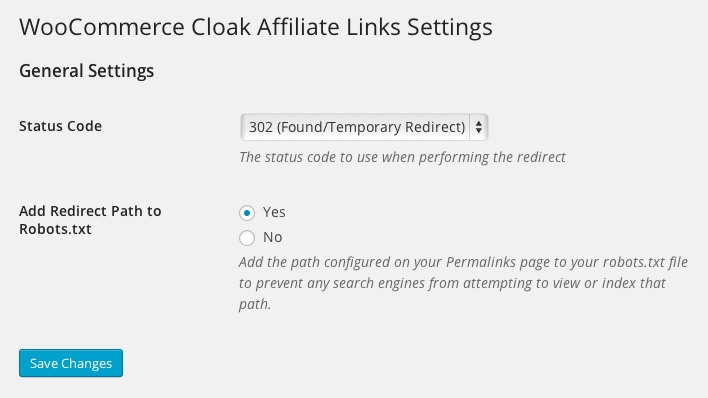WooCommerce Cloak Affiliate Links
