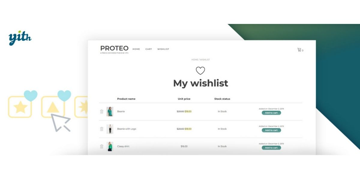 wish list plugin for WooCommerce